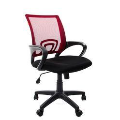 Кресло оператора Chairman 696 black сетка/ткань красный/черный