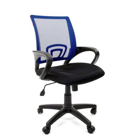 Кресло оператора Chairman 696 black сетка/ткань синий/черный