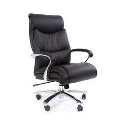 Кресло руководителя Chairman 401 кожа черный
