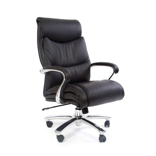 Кресло руководителя CHAIRMAN 401 кожа черная