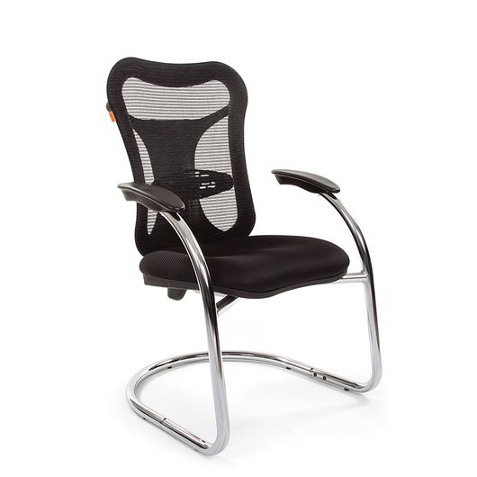 Кресло посетителя CHAIRMAN 426 сетка черная/ткань TW-11 черная