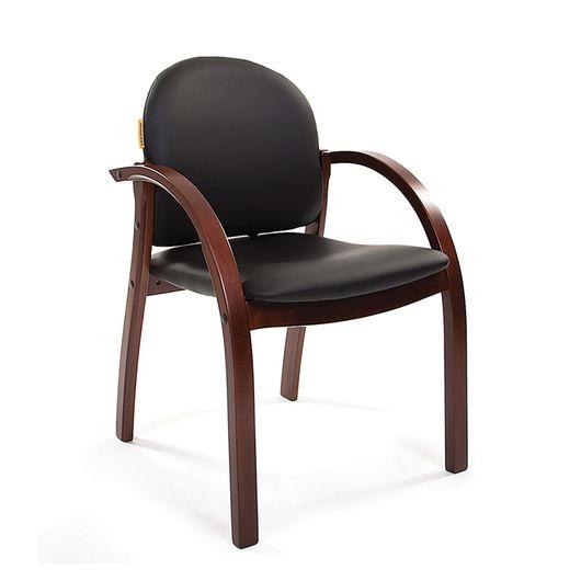 Кресло посетителя Chairman 659 темный орех/экокожа PU2001-12 черный матовый