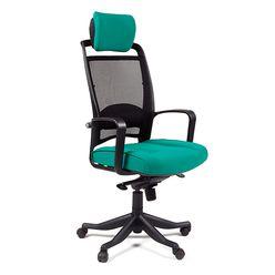 Кресло руководителя CHAIRMAN 283 сетка черная/ткань зеленая