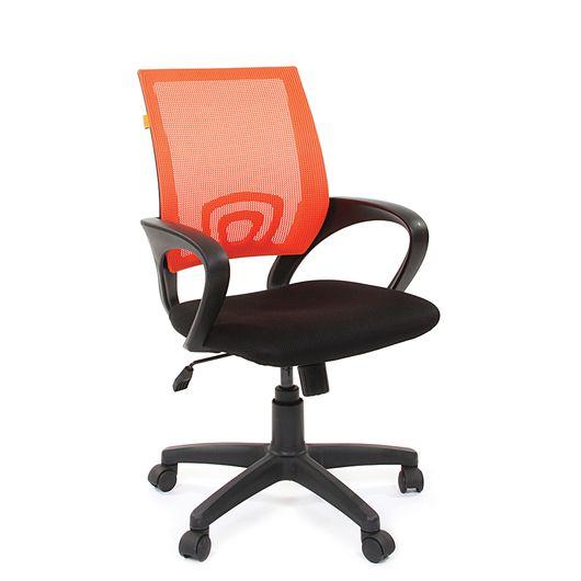 Кресло оператора Chairman 696 black сетка/ткань оранжевый/черный