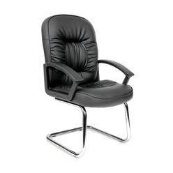 Кресло посетителя Chairman 418V экопремиум черный
