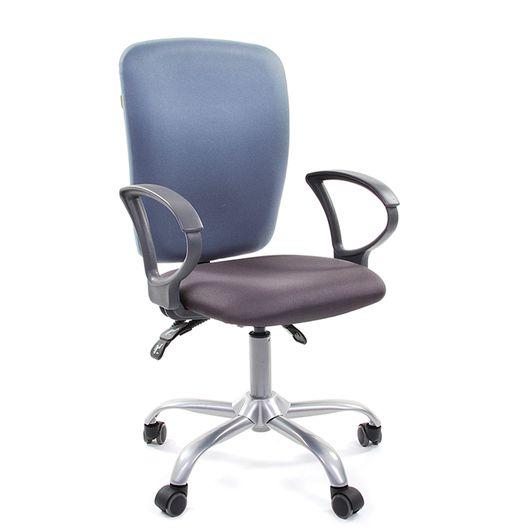 Кресло оператора Chairman 9801 ткань 15-13 серый/15-41 голубой