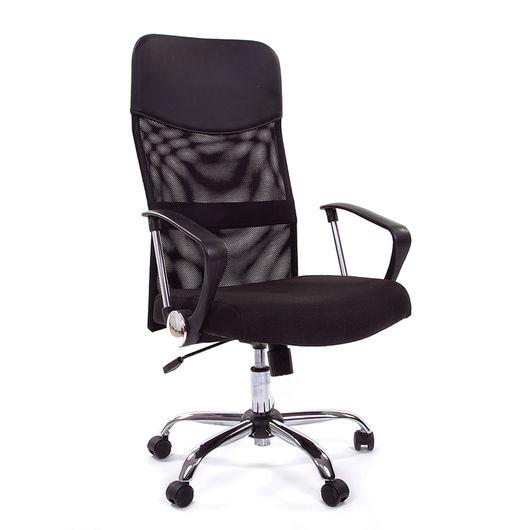 Кресло руководителя CHAIRMAN 610 сетка черная/ткань черная