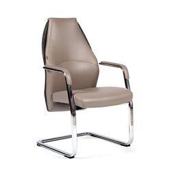 Кресло посетителя Chairman BASIC V экопремиум светло-бежевый/темно-серый