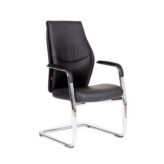Кресло посетителя Chairman VISTA V экопремиум черный