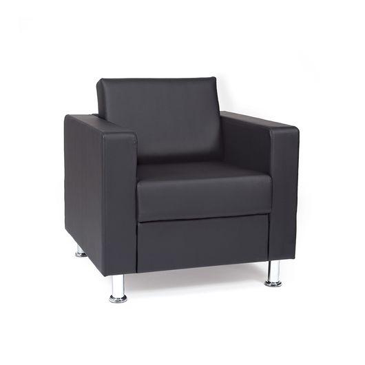 Кресло для отдыха Chairman СИМПЛ Euroline черный