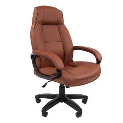 Кресло руководителя Chairman 436 LT экопремиум коричневый