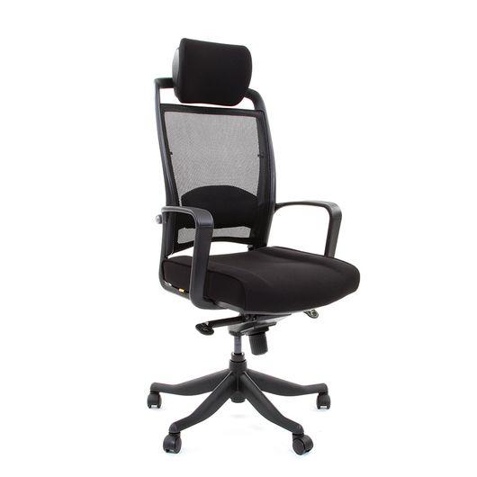 Кресло руководителя CHAIRMAN 283 сетка черная/ткань черная