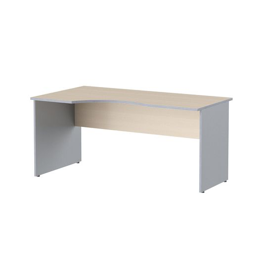 Стол криволинейный Skyland IMAGO СА-1 Л клен/металлик