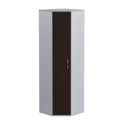 Стеллаж угловой с дверью Skyland IMAGO СТ-1.10 венге/металлик
