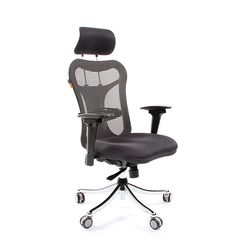 Кресло руководителя Chairman 769 сетка/ткань TW-12 серый