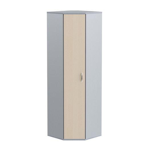 Стеллаж угловой с дверью Skyland IMAGO СТ-1.10 клен/металлик