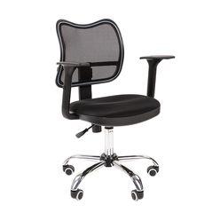 Кресло оператора Chairman 450 хром сетка/ткань TW-11 черный