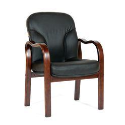 Кресло посетителя Chairman 658 кожа черный