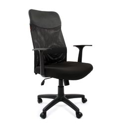 Кресло руководителя CHAIRMAN 610 LT сетка черная/ткань черная