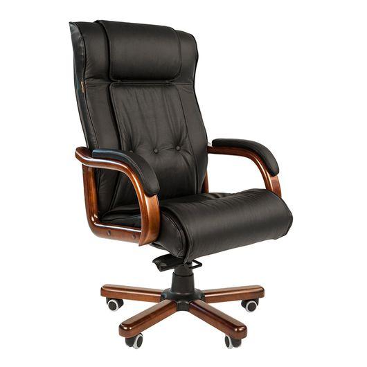 Кресло руководителя Chairman 653 кожа черный