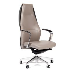 Кресло руководителя Chairman BASIC кожа серый
