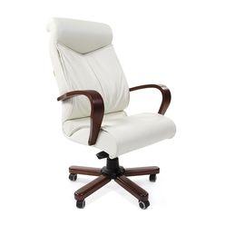 Кресло руководителя CHAIRMAN 420 WD кожа белая