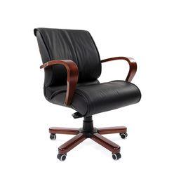 Кресло оператора Chairman 444 WD кожа черный