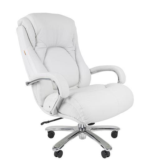 Кресло руководителя Chairman 402 кожа белый