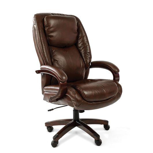 Кресло руководителя CHAIRMAN 408 кожа коричневая