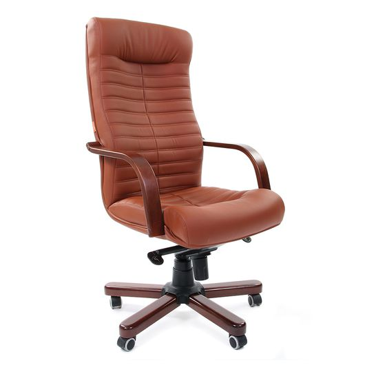 Кресло руководителя Chairman 480 WD экопремиум коричневый