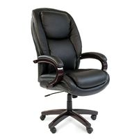 Кресло руководителя CHAIRMAN 408 кожа черная