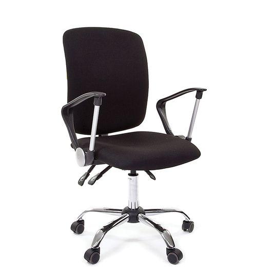 Кресло оператора Chairman 9801 хром ткань 15-21 черный