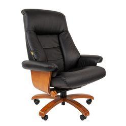 Кресло руководителя Chairman 400 кожа черный
