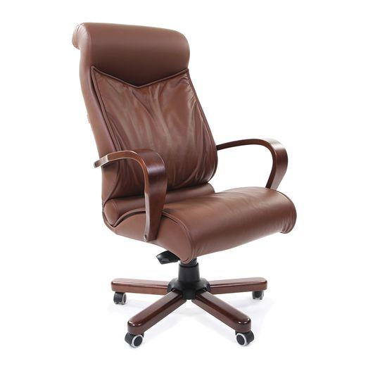 Кресло руководителя Chairman 420 WD кожа коричневый
