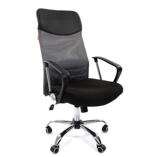 Кресло руководителя Chairman 610 сетка/ткань серый/черный