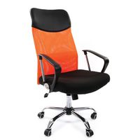 Кресло руководителя CHAIRMAN 610 сетка оранжевая/ткань черная