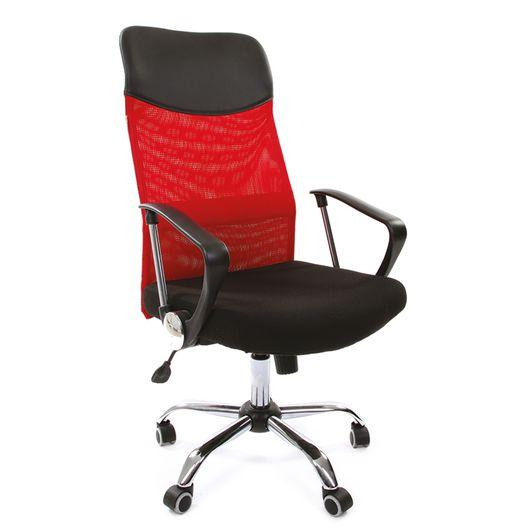 Кресло руководителя Chairman 610 сетка/ткань красный/черный