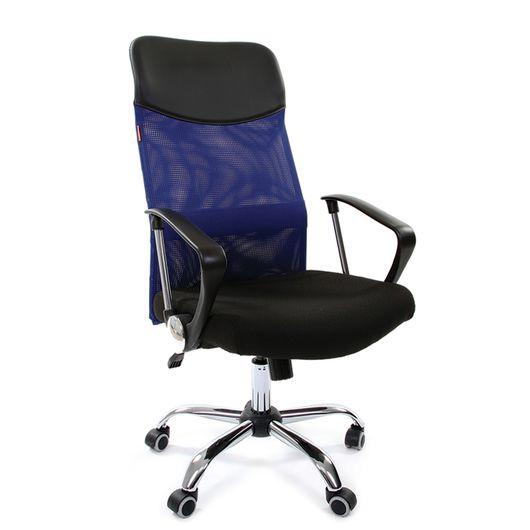 Кресло руководителя Chairman 610 сетка/ткань синий/черный