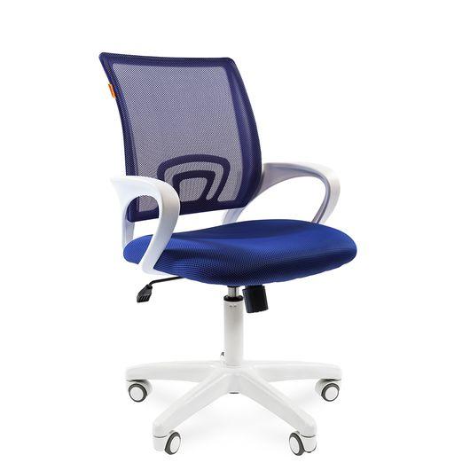 Кресло оператора Chairman 696 white сетка/ткань синий
