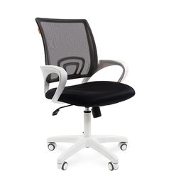 Кресло оператора Chairman 696 white сетка/ткань черный