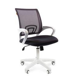 Кресло оператора Chairman 696 white сетка/ткань серый