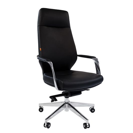 Кресло руководителя Chairman 920 кожа черная/экокожа черная