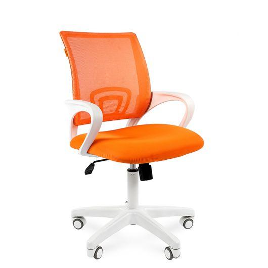 Кресло оператора Chairman 696 white сетка/ткань оранжевый