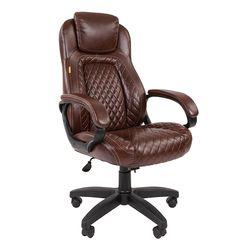 Кресло руководителя Chairman 432 экопремиум коричневый
