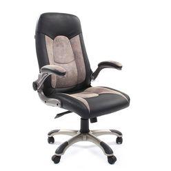 Кресло руководителя Chairman 439 экопремиум/микрофибра черный/бежевый