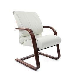 Кресло посетителя Chairman 445 WD кожа белый