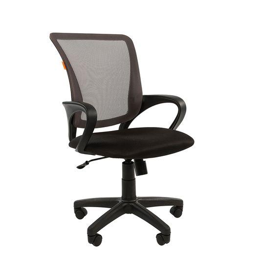 Кресло оператора Chairman 969 сетка/ткань серый/черный