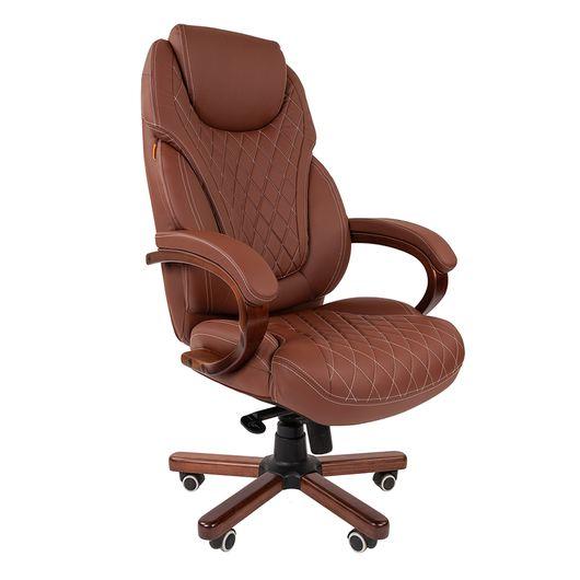 Кресло руководителя Chairman 406 экопремиум коричневый