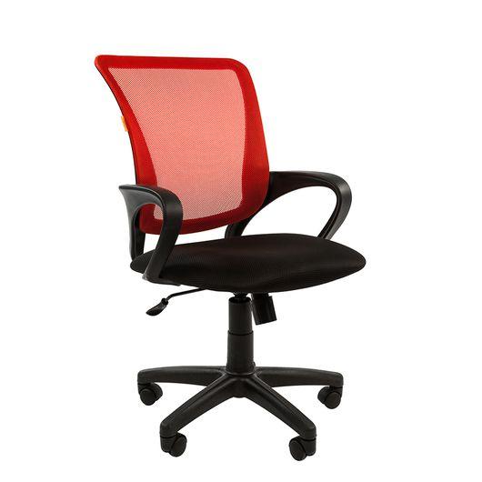 Кресло оператора Chairman 969 сетка/ткань красный/черный