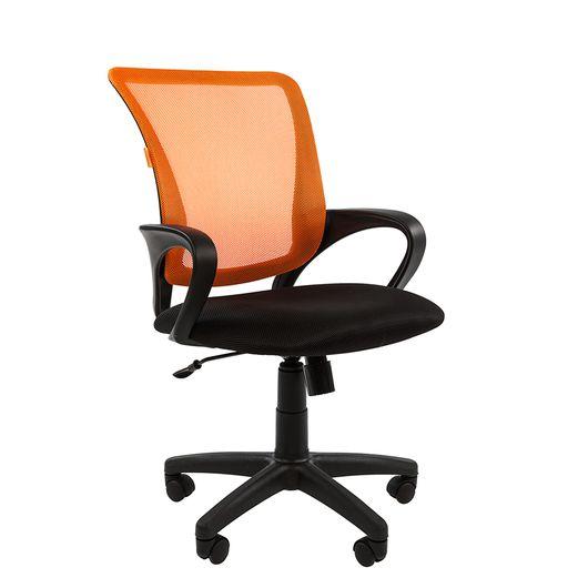 Кресло оператора Chairman 969 сетка/ткань оранжевый/черный